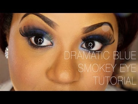 Dramatic Blue Smokey Eye Tutorial