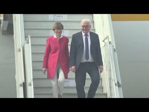 German President Frank-Walter Steinmeier arrives in Delhi for five-day visit