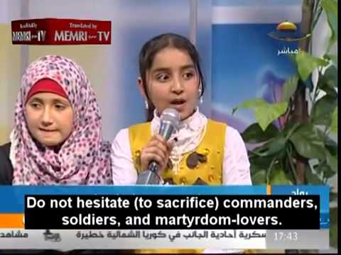 Hamas TV show has Gaza children sing praises of suicide bombing