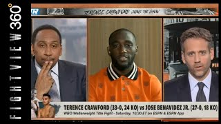 TERENCE CRAWFORD ESPN FIRST TAKE  RECAP! DODGES SPENCE QUESTION? CRAWFORD BENAVIDEZ PEVIEW 10/13