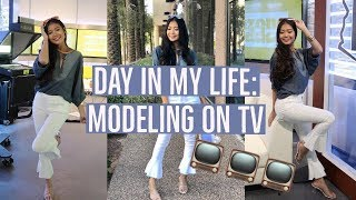 I WAS ON TV! | DAY IN MY LIFE: Modeling on Channel 12 | Valerie Loo