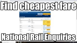 How to find cheapest fare National Rail Enquiries