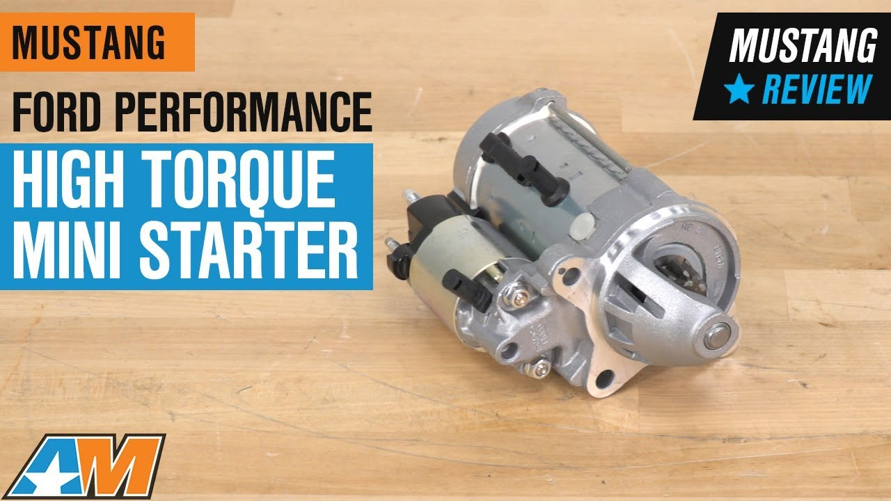 ford performance mustang high torque mini starter m 11000 c50 05 14 gt gt500  [ 1280 x 720 Pixel ]