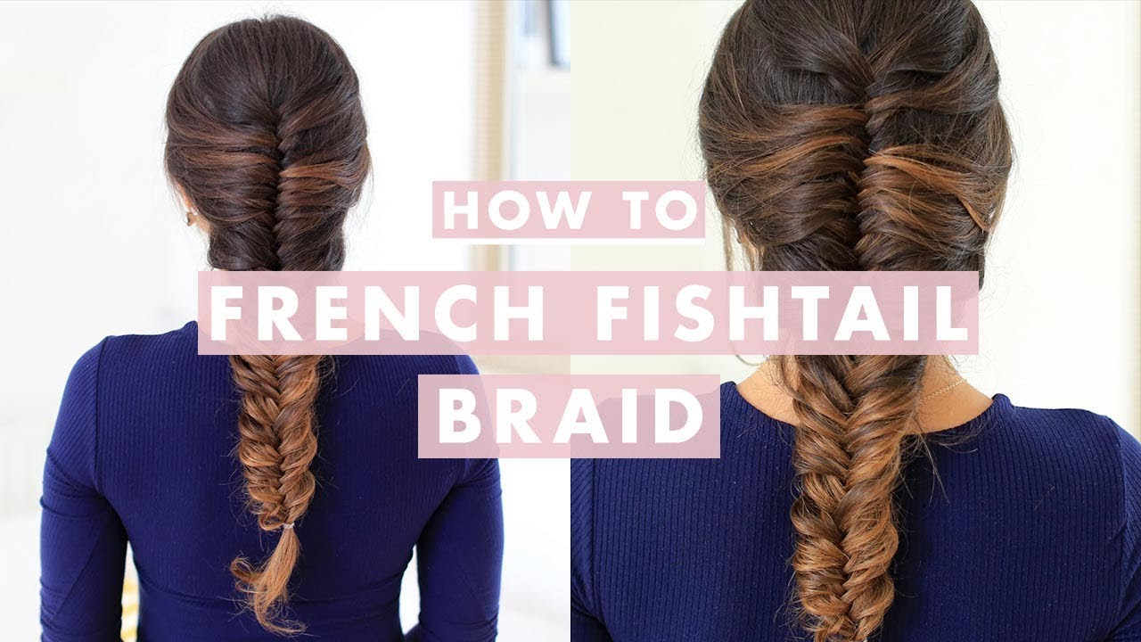 Half Up Fishtail Braided Flower Hair Tutorial