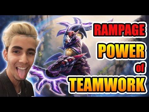 SumaiL Dota 2 [Anti-Mage] RAMPAGE - The POWER of TEAMWORK