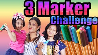 three-marker-challenge-blindfold-challenge-cute-sisters