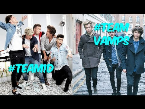 One Direction Vs. The Vamps! (Battle Of The Boy Bands ... One Direction Names In Words