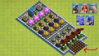 Who Can Survive This Difficult Trap On COC? COC All Troops! Trap VS Troops #coco8 |Chip GamePlays
