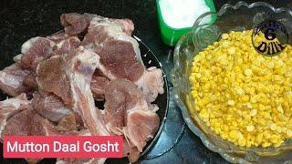 Mutton daal gosht Beginner easy &amp tasty recipe