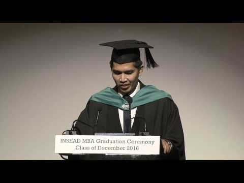 INSEAD MBA Class 16D Graduation - Henry Ford prize