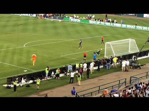 Marquinhos scores winning goal in PK's to beat AS Roma at Comerica Park