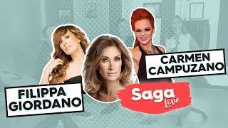 Video #SagaLive la modelo y actriz Carmen Campuzano y la Diva de la opera pop, Filippa Giordano con Adela download MP3, 3GP, MP4, WEBM, AVI, FLV Juli 2018