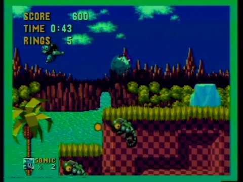 Sega Mega Play demonstration: Sonic the Hedgehog 1