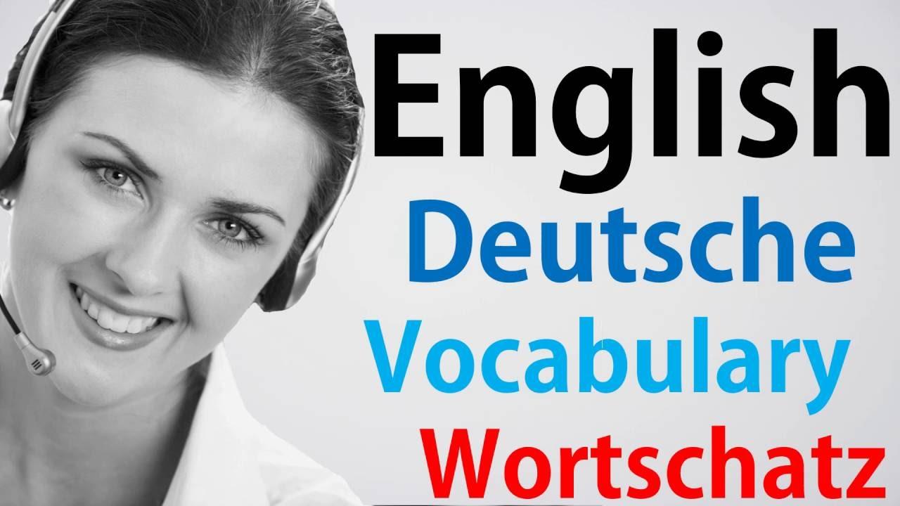 Video#72 Deutsch-Englisch Wortschatz Übersetzung German English ...