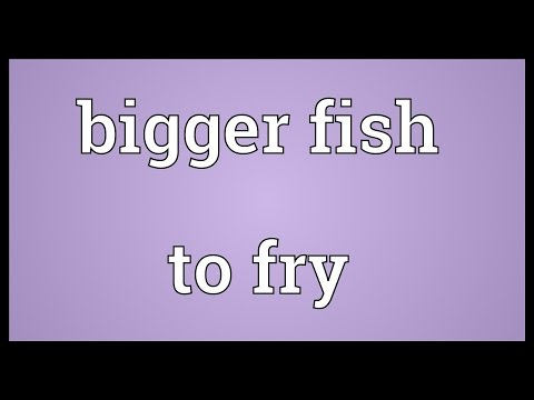 Bigger Fish To Fry Meaning