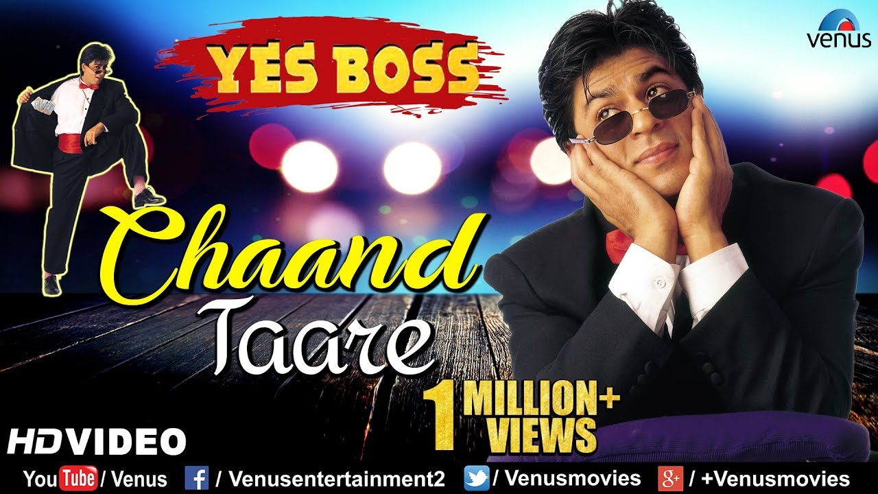 Chaand Tare - HD VIDEO | Shah Rukh Khan & Juhi Chawla | Yes Boss | 90's Best Bollywood Song