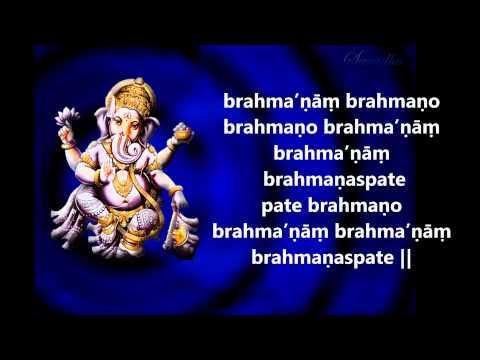 Ganapati Prarthana & Ganapaath Lyrics