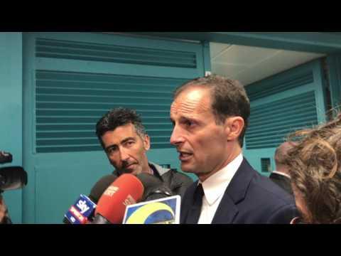 Napoli-Juventus 3-2, Massimiliano Allegri in mixed zone (05/04/2017)