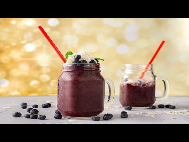 Smoothie de blueberry y Coco