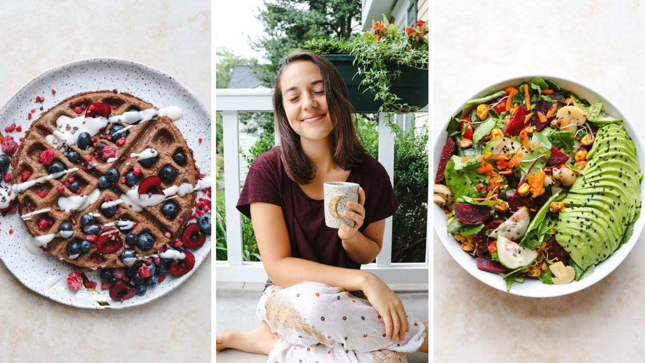 What I Eat on a Chill Day + CHOC WAFFLE Recipe! (Vegan)