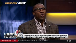 Shannon: This is why LeBron James to not wear social justice message on NBA restart