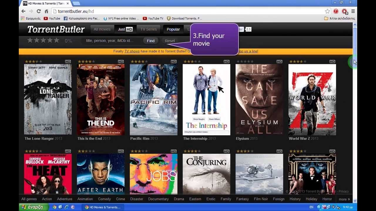 how to download movies from youtube using utorrent