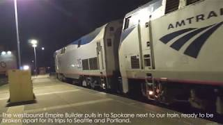 Coupling the Empire Builder Train at Spokane