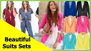 Top 50 beautiful suits, cheap suit sets for ladies S1