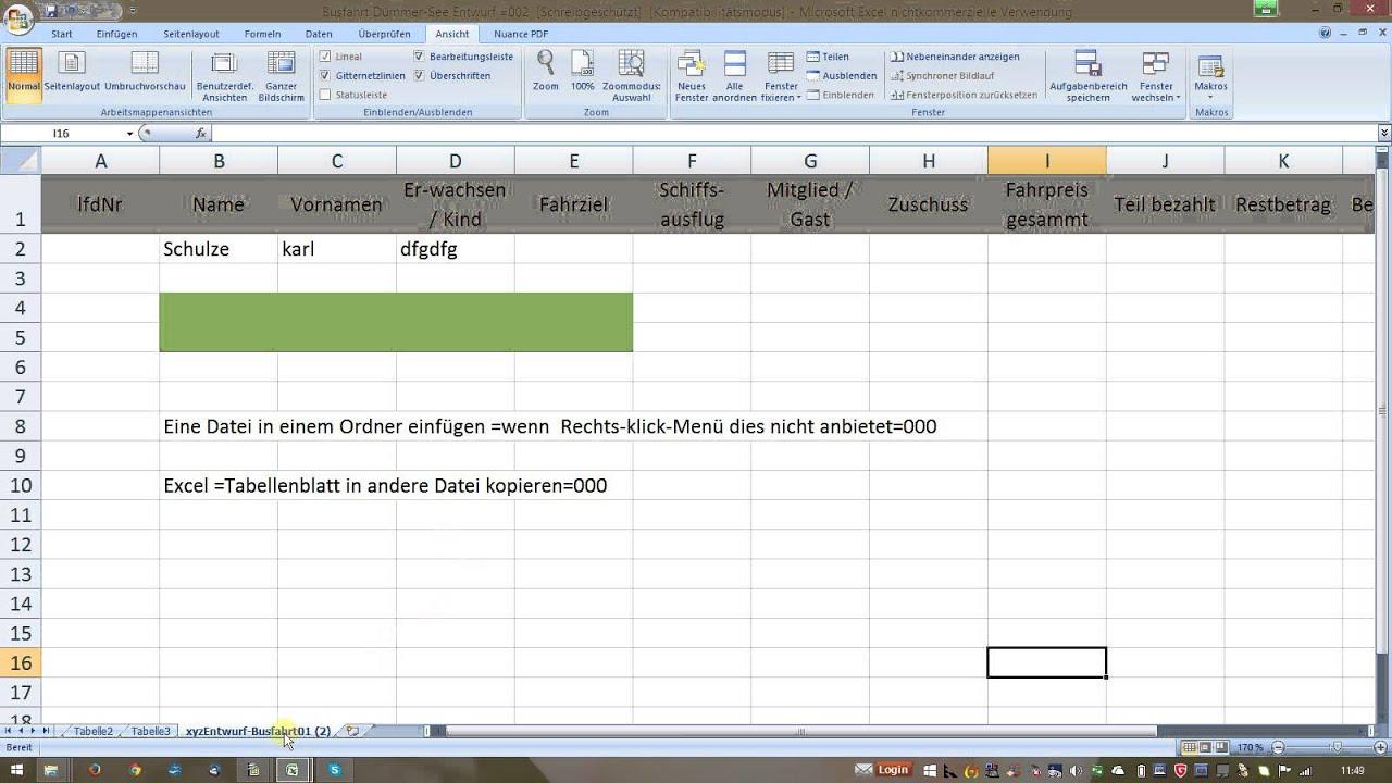 W_0076 =013a Excel =Tabellenblatt löschen - YouTube