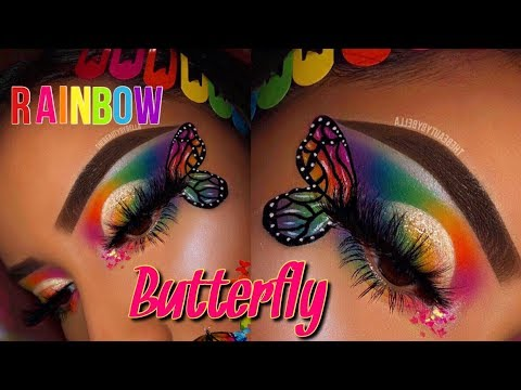 RAINBOW BUTTERFLY MAKEUP TUTORIAL