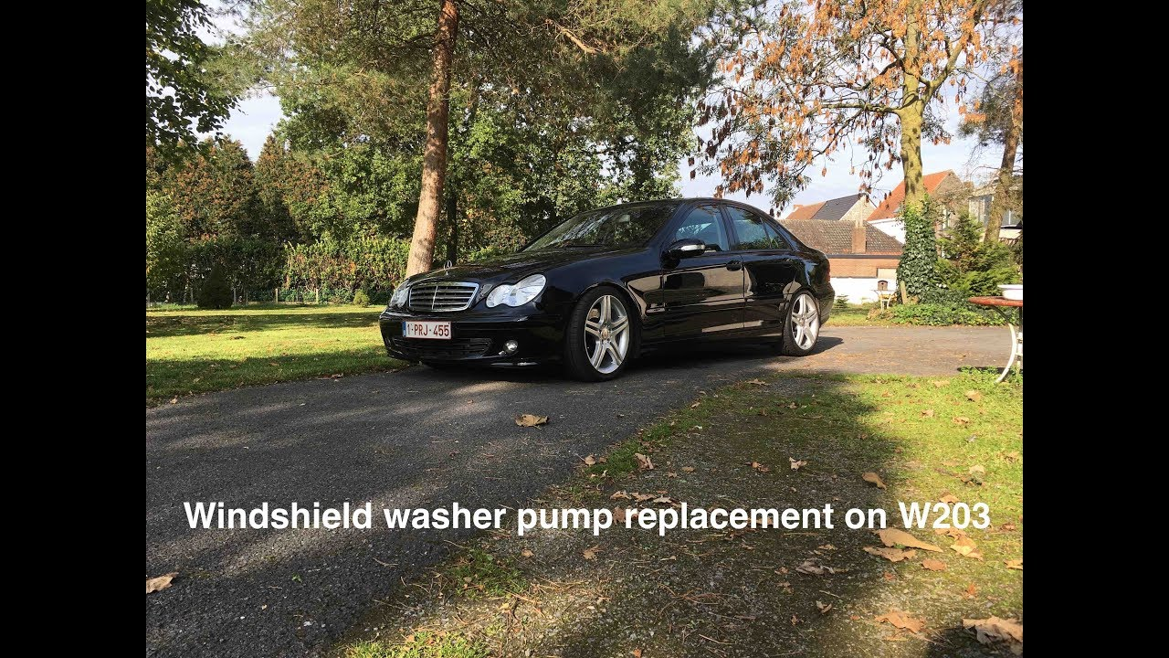 SIMPLE Windshield washer pump replacement - Mercedes W203