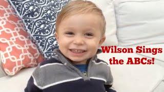 2-Year-Old Boy Sings ABCs!