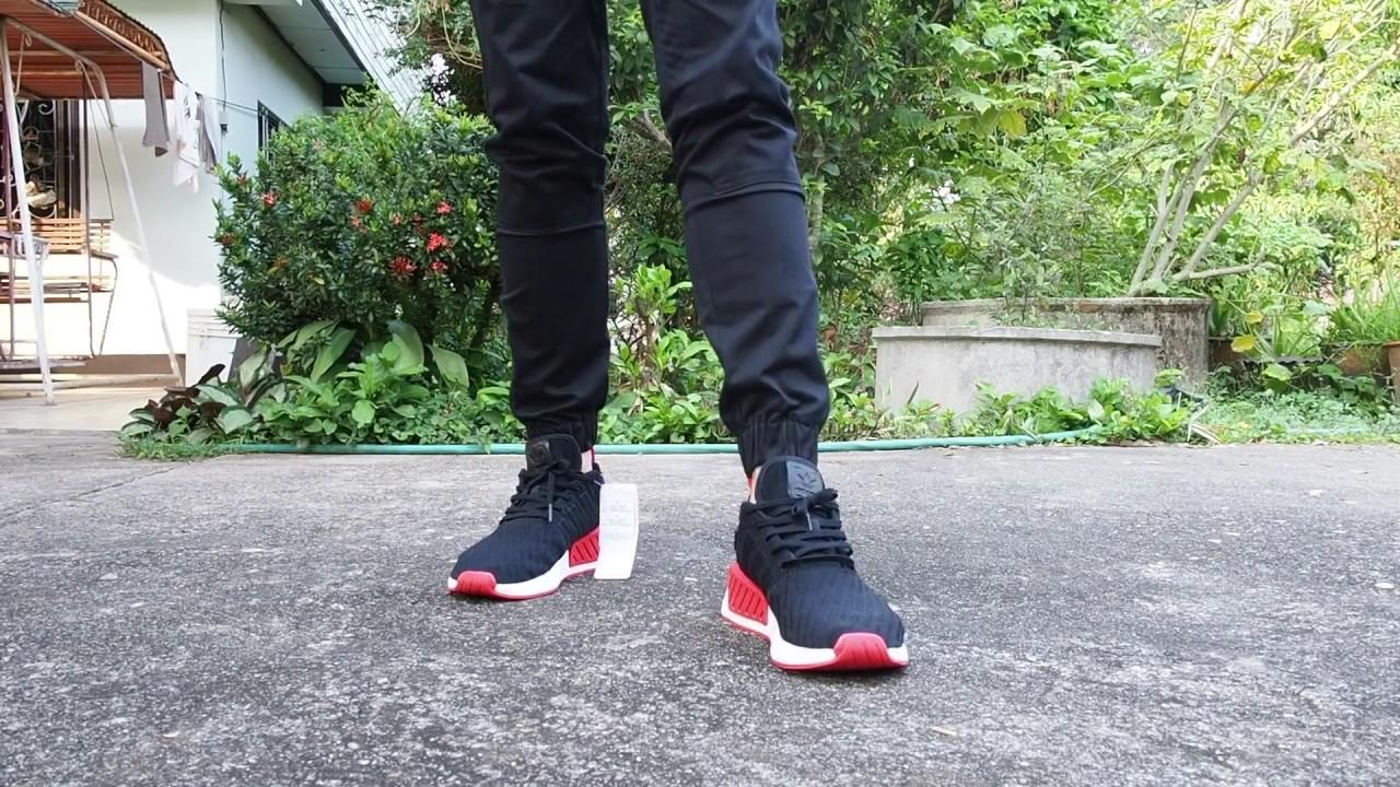 adidas NMD R2 Core Black Red Mfbiz.pl