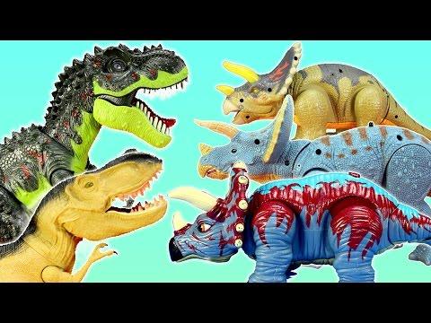 Dinosaur Triceratops T-rex Spinosaurus Light and Sound Fun Adventure Toys For Kids