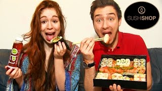 Dégustation Sushi Shop en Couple ! SUSHI au FOIS GRAS ! MAKI ! CALIFORNIA ROLLS ! SASHIMI !
