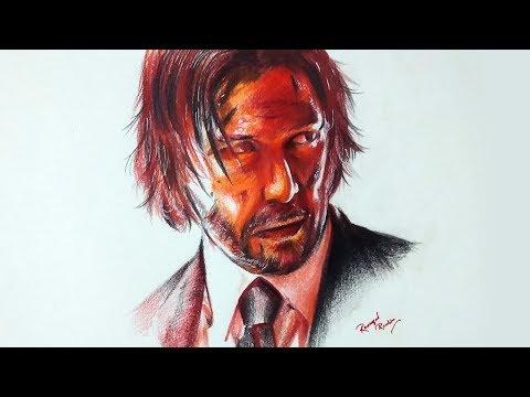 drawing-john-wick-(keanu-reeves)-|-pencil-glue