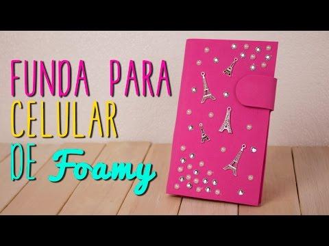 Cómo hacer Funda para Celular Casera de Foami y Cartón   Hecha a Mano - DIY  Catwalk ♥