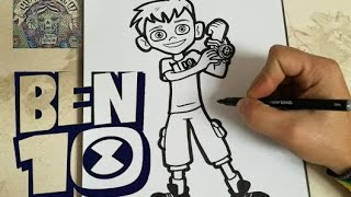 COMO DIBUJAR A BEN 10 REBOOT / how to draw ben 10 reboot