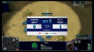 SPL [12.18]  stork(Samsung) vs JYP(EGTL) 2SET / CalDeum - Starcraft 2