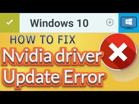 How to Fix Nvidia installer cannot continue error - Windows 10 [2016]