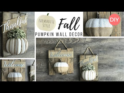 2 Budget Friendly Fall DIYs | Dollar Tree DIY | Farmhouse Style Wall ...