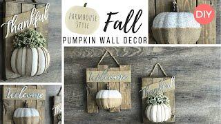 2 Budget Friendly Fall DIYs | Dollar Tree DIY | Farmhouse Style Wall Decor | Ashleigh Lauren