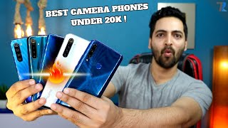 Top 8 Best Camera Smartphones With 48MP & 64MP Under Rs.20,000 [2020 Edition]