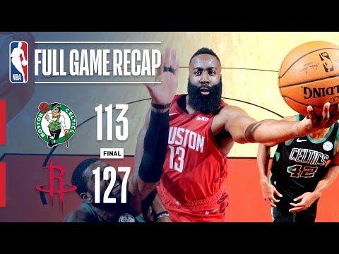 Full Game Recap: Celtics VS Rockets | Harden Goes Off For 45 Points