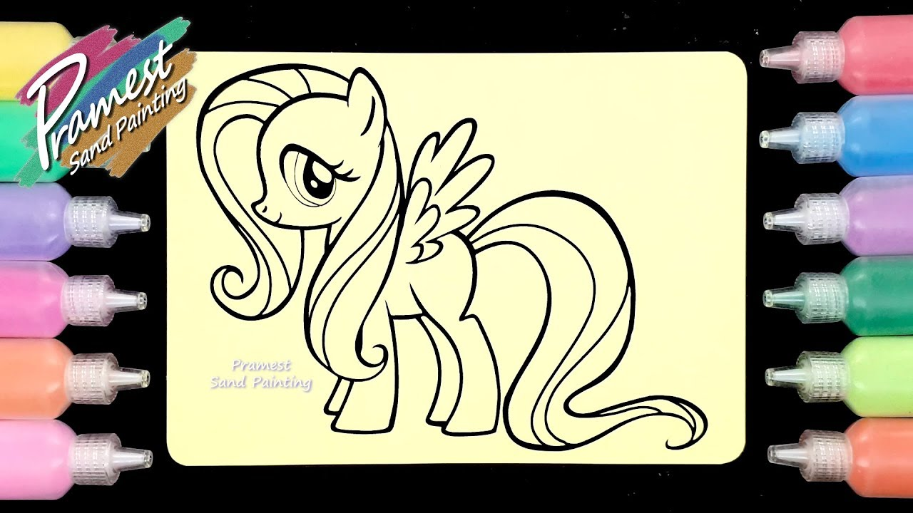 Pony Fluttershy Sand Painting Art Pawo