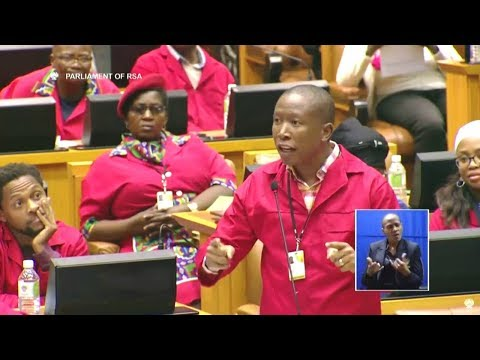 "Julius Malema And Mmusi Maimane Asking Ramaphosa A Difficult Question ""VBS And His Son"""