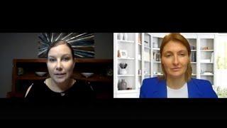 Michelle Beyo CEO of Finavator speaks with Peggy Van de Plassche of the New Normal in Fin. Serv.