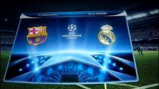 F.C. Barcelona VS. Real Madrid C.F. UEFA Champions League. PES 2012 PS3.