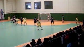 ハンドボール、湧永レオリックGK志水選手の魂のシュートストップ!Handball Goalkeeper Shimizu great save!!