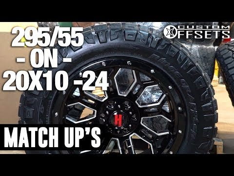 custom offsets match up 295 55 on 20x10 24 youtube